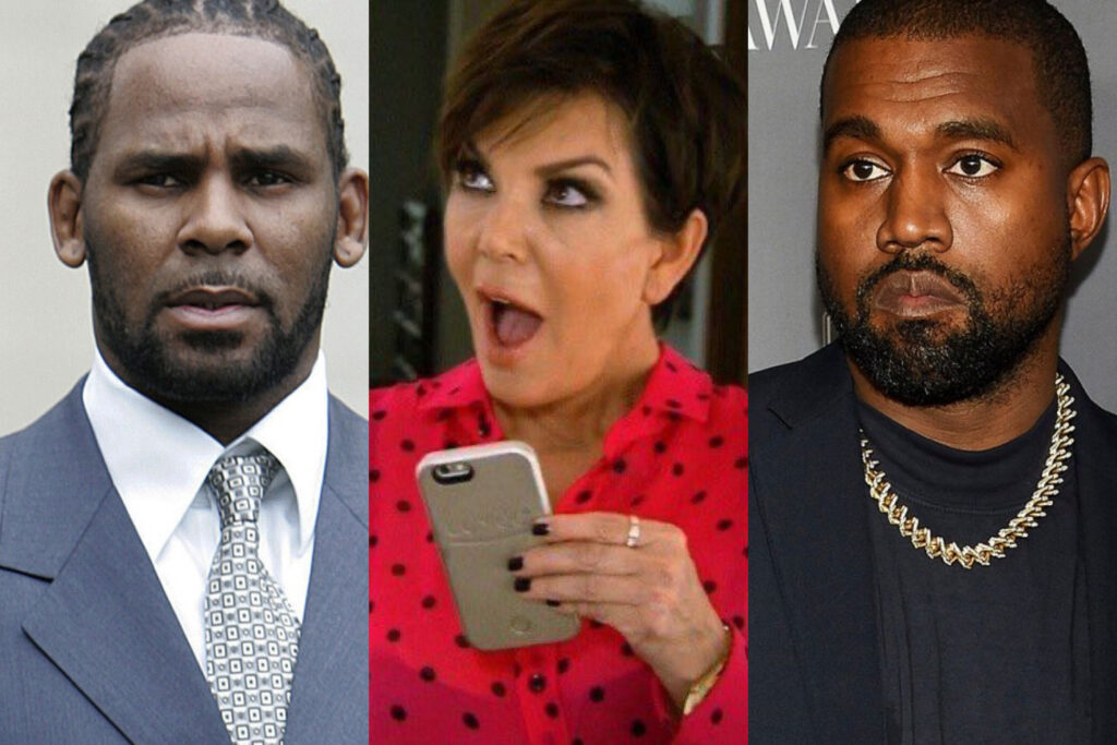 A PISSY MESS: Folks Can't Stop Talking About Kanye West Pissing On His Grammy; Kris Jenner is Reportedly Appalled While the Internet is Bringing Up R. Kelly