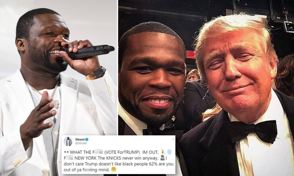 """GET RICH & START COONING: 50 Cent Endorses Donald Trump For President – """"I Don't Care That Trump Doesn't Like Black People"""""""