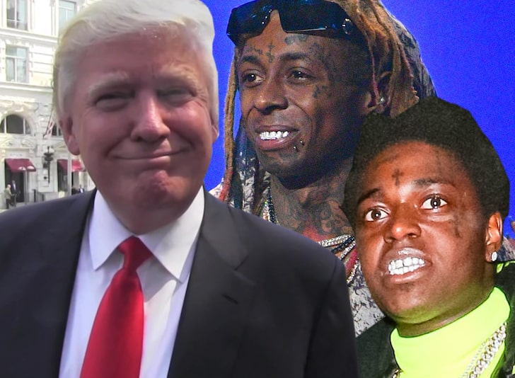 THANK YOU & GOODBYE: Kodak Black & Lil Wayne Officially Pardoned By Trump As He Heads to Hell