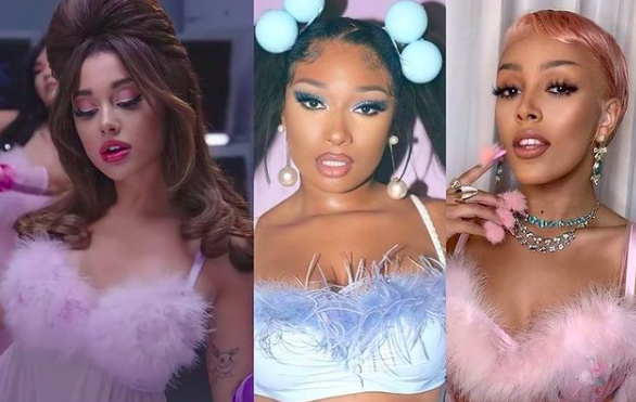 "ISSA BOP OR ISSA FLOP?: Ariana Grande Hooks Up with Megan Thee Stallion & Doja Cat for a Sexy Threesome on ""34 + 35"" (REMIX)"