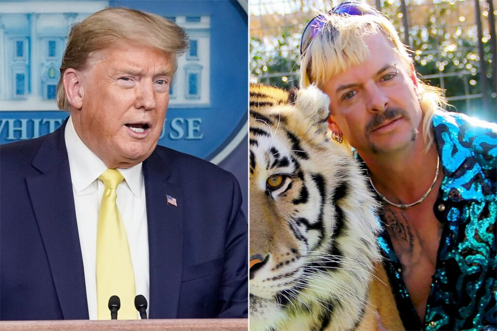 "ARE YOU SURE IT WASN'T THAT B*TCH CAROLE BASKIN?: Tiger King Joe Exotic Claims He Was ""Too Gay"" To Receive Trump Pardon"