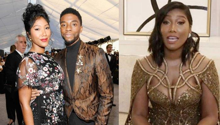 FLY HIGH, KING: Chadwick Boseman's Wife Emotionally Accepts On His Behalf As He Wins Best Actor At Golden Globes (WATCH)