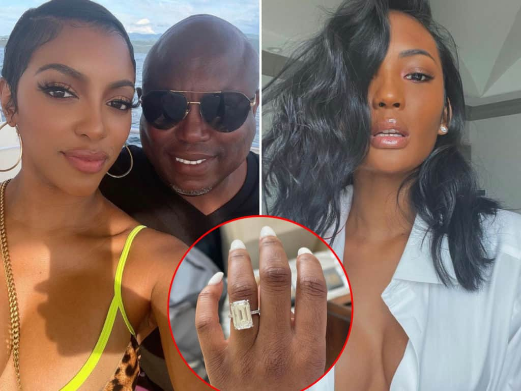 """IS ALL FAIR IN LOVE & RICH MEN?: Porsha Williams Reveals Engagement To """"RHOA"""" Co-Star & Friend's Ex-Husband & The Internet is Gagging"""