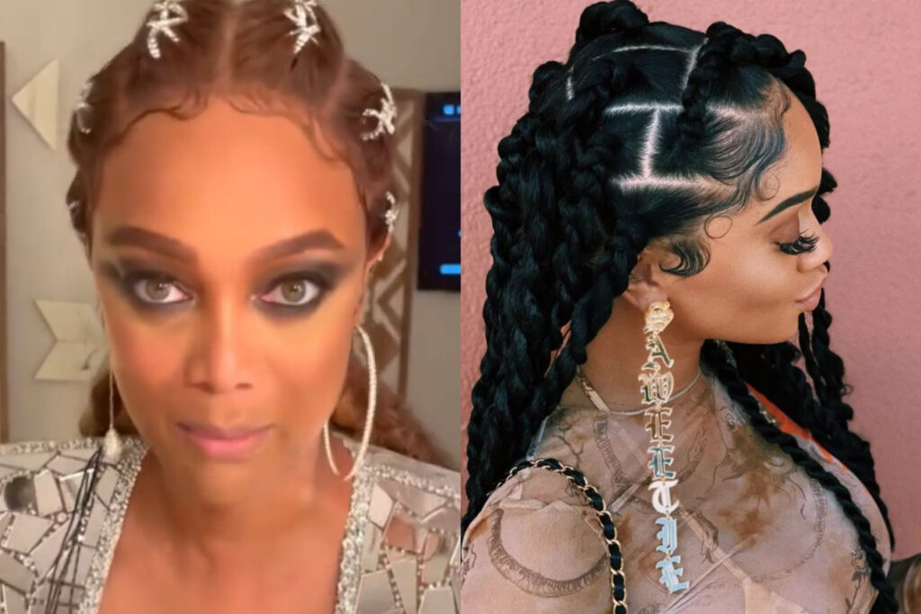 HAIR DO OR HAIR DON'T?: The Internet is Roasting the Hell Out of Tyra Banks Attempt at Saweetie's Baby Hairs